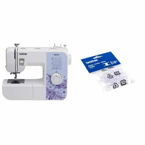 Brother XM2701 Lightweight, Full-Featured Sewing Machine and Brother SA156 Top Load Bobbins, 2 packs of 10 (20 total)