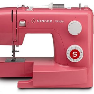 Singer Simple 3223R Handy Sewing Machine including 23 Built-In Stitches, Easy Threading, Snap-on Presser Foot, Built-in Bobbin winding