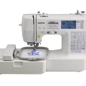Brother LB6800PRWPKG Project Runway Computerized Embroidery and Sewing Machine with Gingher Limited Edition Jennifer Designer Series 8 inch Dressmaker scissors and Includes Rolling Carrying Case