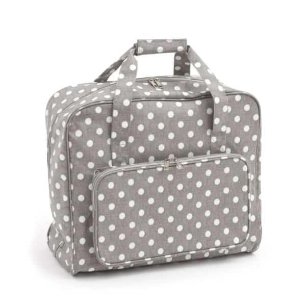 Hobby Gift 'Grey Polka Dot' Sewing Machine Bag 20 x 43 x 37cm (d/w/h)