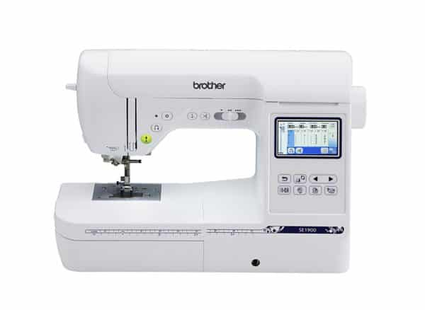 """Brother SE1900, Combination Sewing and Embroidery Machine with 5""""x7"""" Embroidery Field and Large Color Touch LCD screen"""