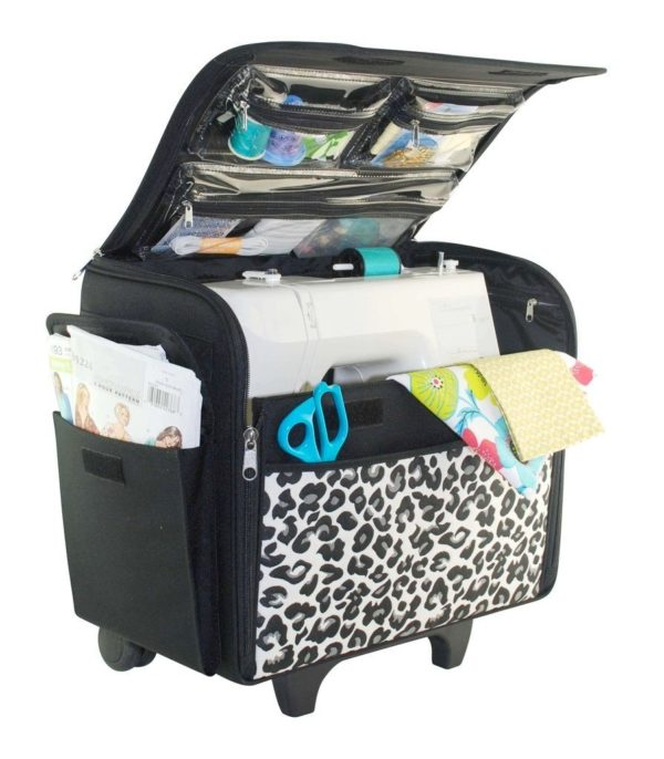 Everything Mary Rolling Sewing Machine Tote (Cheetah)