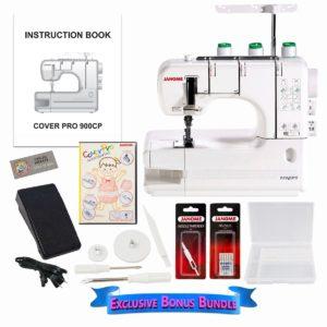 Janome CoverPro 900CPX Coverstitch Machine with Exclusive Bonus Bundle