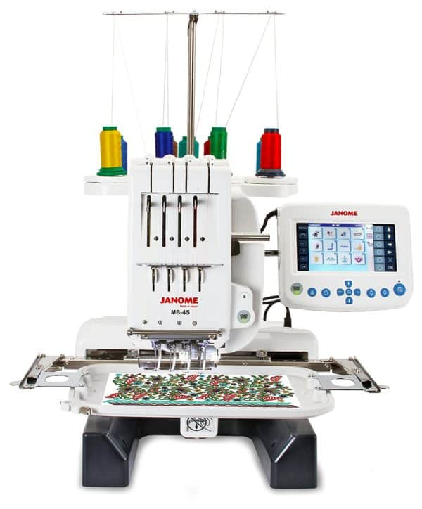 Janome MB-4S Four Needle Embroidery Machine with Accessories
