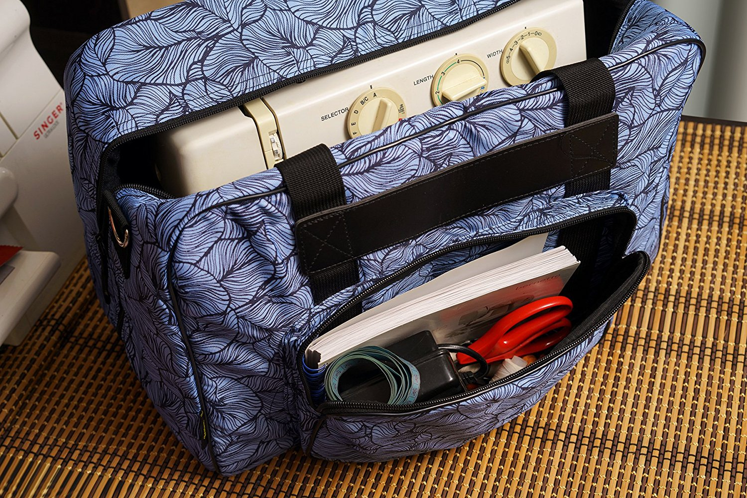Kenley Sewing Machine Tote Bag Padded Storage Cover