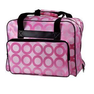 Janome Pink Universal Sewing Machine Tote, Canvas