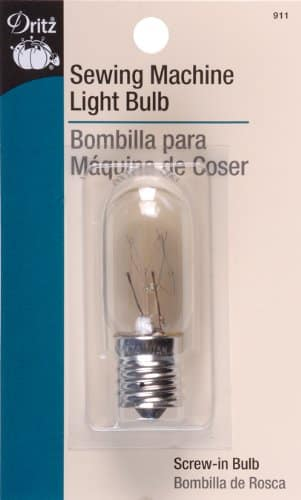 Dritz Sewing Machine Light Bulb for Sewing Product, Screw