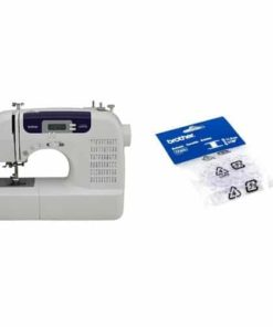 Brother CS6000i Feature-Rich Sewing Machine and Brother SA156 Top Load Bobbins, 2 packs of 10 (20 total)