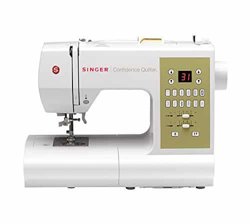 SINGER 7469Q Confidence Quilter Computerized Electronic Portable Sewing, With 98 Built-In Stitches – 6 Fully Automatic 1-step Buttonhole, 77 Decorative Stitches, 8 Basic Stitches and With 2 STATYBRIGHT LED Lights