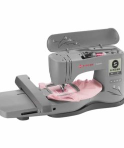 Singer Superb EM200 Embroidery Sewing Machine including 200 Embroidery Designs, Automatic Needle Threader, Extra-Large Embroidery Area, LCD Touch, perfect for sewing all types of fabrics with ease