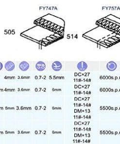 High Speed Industrial Serger Overlock Interlock Submerged Table+Motor (Yamata FY747A - 2 Needle 3 or 4 Thread)