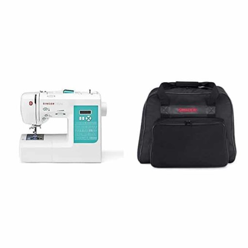 Singer 7258 100-Stitch Computerized Sewing Machine with 76 Decorative Stitches with Machine Tote