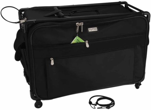 "Tutto Machine On Wheels Case, 23""X14.25""X14"" Black"