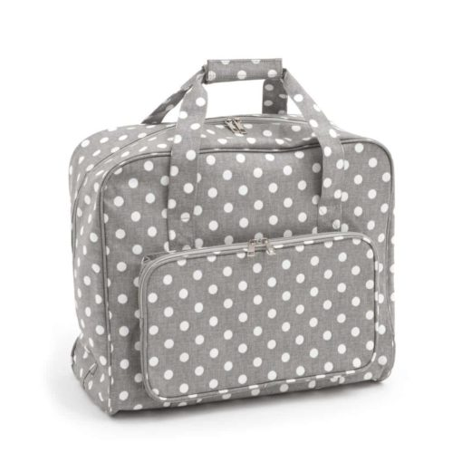 Hobby Gift 'Grey Polka Dot' Sewing Machine Bag 20 x 43 x 37cm (d/w/h)