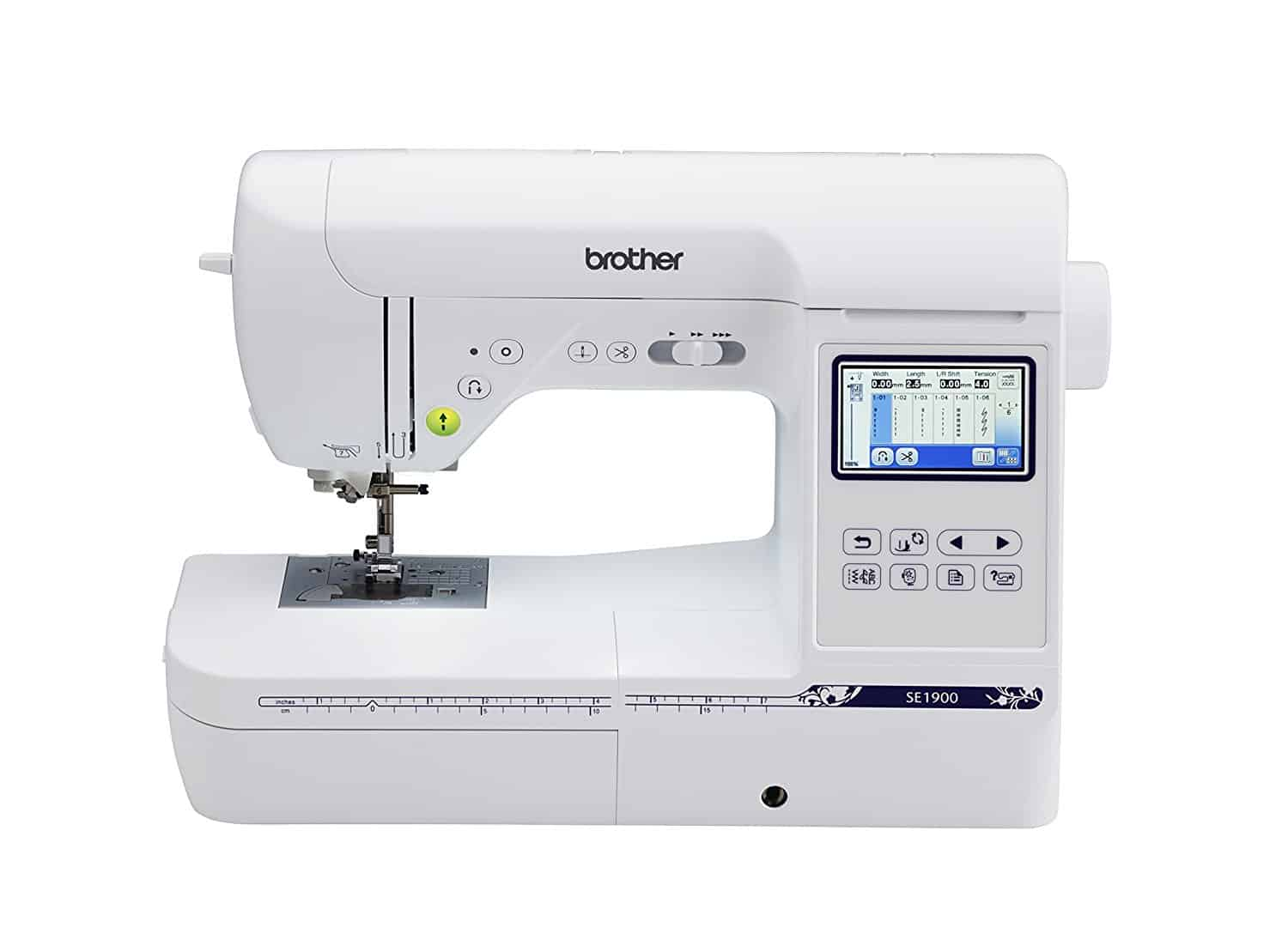Brother SE1900, Combination Sewing and Embroidery Machine ...