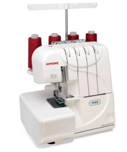 Janome 7933 Serger with Lay-In Threading, 3 and 4 Thread Convertible with Differential Feed