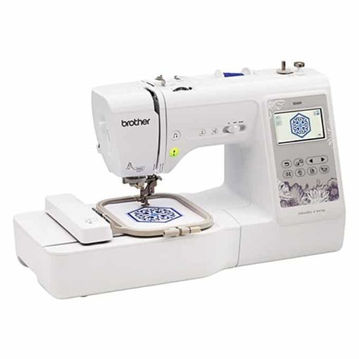 "Brother Sewing Machine, SE600, Computerized Sewing and Embroidery Machine with 4"" x 4"" Embroidery Area, 80 Embroidery Designs, 103 Built-In Sewing Stitches, White"