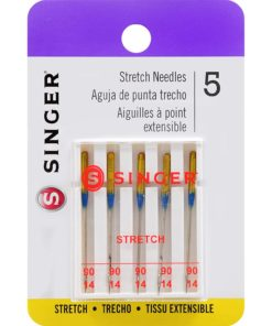 Singer Size Stretch Sewing Machine Needles, 90/14
