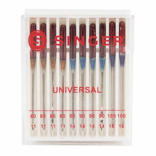Singer 4790 10-Pack Regular Point Machine Needles Assorted, 4 Size 80/11, 4 Size 90/14 and 2 Size 100/16