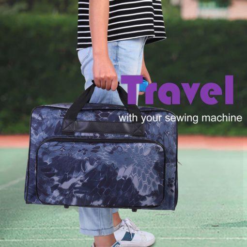 Homdox Sewing Machine Carrying Case Tote Bag - Universal Waterproof Black-2