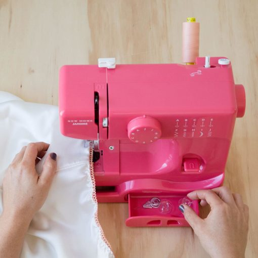 Janome Pink Lightning Basic, Easy-to-Use, 10-Stitch Portable, Compact Sewing Machine with Free Arm only 5 pounds