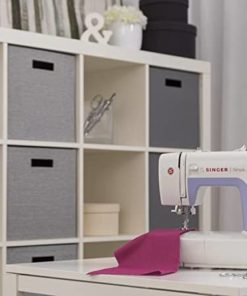Singer Simple 3232 Portable Sewing Machine with 32 Built-In Stitches Including 19 Decorative Stitches, Automatic Needle Threader and Free Arm, Best Sewing Machine for Beginners