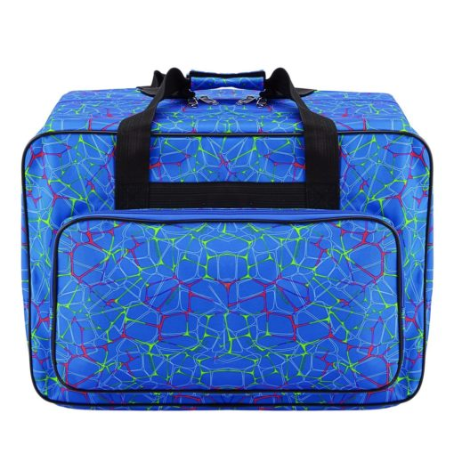 Sewing Machine Tote Bag Waterproof Carrying Bag Padded Storage Case with Pockets and Handles (Blue)