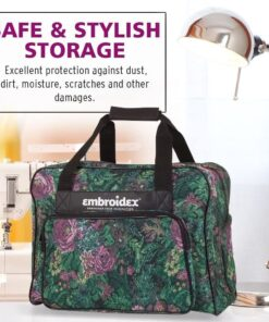 Floral Sewing Machine Carrying Case - Carry Tote-Bag Universal - 6
