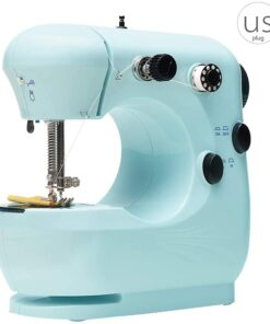 Mini Electric Sewing Machine Portable Household Sewing Machine Beginner Tailors Free-Arm Crafting Mending Machine - 1