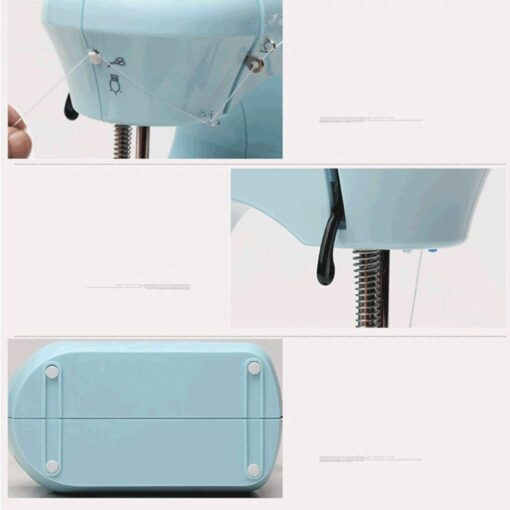 Mini Electric Sewing Machine Portable Household Sewing Machine Beginner Tailors Free-Arm Crafting Mending Machine - 3