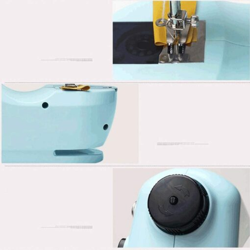 Mini Electric Sewing Machine Portable Household Sewing Machine Beginner Tailors Free-Arm Crafting Mending Machine - 4
