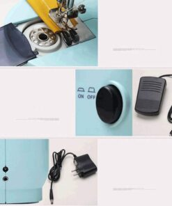 Mini Electric Sewing Machine Portable Household Sewing Machine Beginner Tailors Free-Arm Crafting Mending Machine - 5